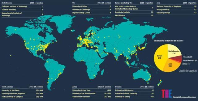 Map of Universities